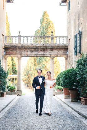 real wedding tuscany reception